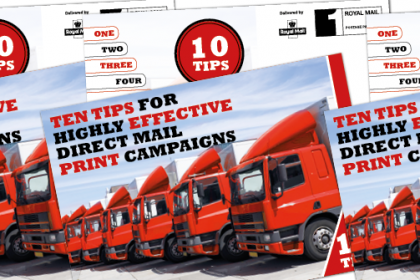 Top tips for direct mail graphic