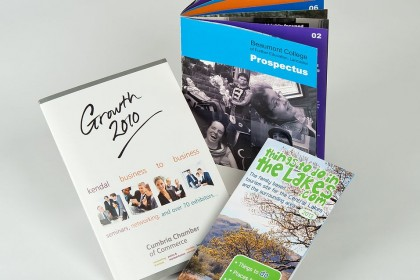 Brochure samples for Printing Plus Lancaster - http://www.lancaster-chamber.org.uk/