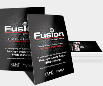 Print marketing laminated leaflets