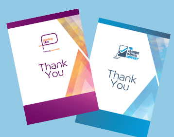 Thank you cards Printing Plus lancaster