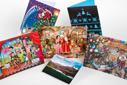 Christmas card samples for Printing Plus Lancaster