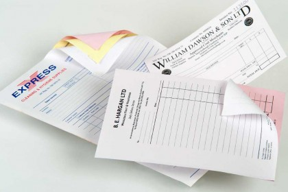 photo of invoices printed by Printing Plus Lancaster & Kendal