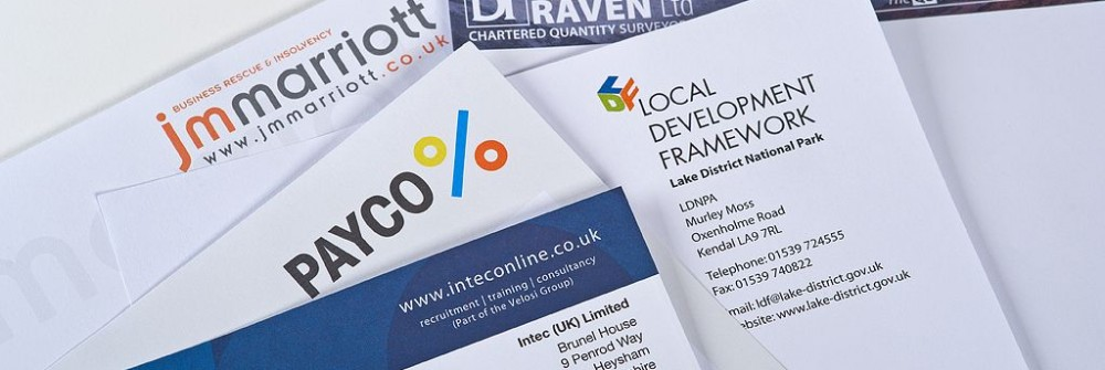 Letterhead samples for Printing Plus Lancaster